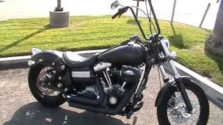 2. 2009 FXDB, HARLEY DAVIDSON, DYNA STREET BOB, 96 INCH MOTOR, BLACK DENIM, VANCE AND HYNES PIPES
