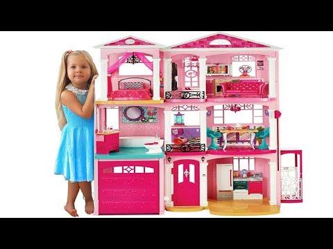 Дом куклы Барби - Самая большая Игрушка Барби на Кids Diаnа Shоw - DomaVideo.Ru