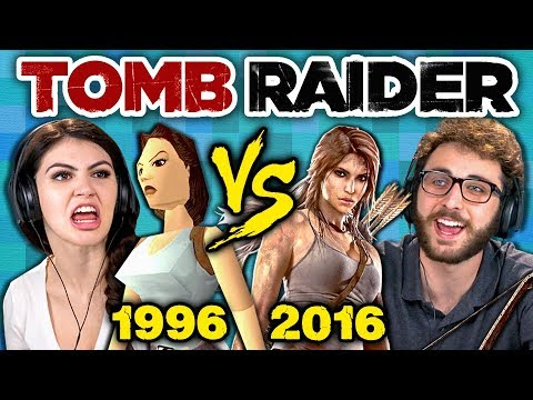 TOMB RAIDER ORIGINAL GAME vs TODAY (1996 vs 2016) (Teens React: Gaming) (видео)