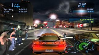 Need For Speed Underground Final Race HD Me Vs Eddie Mazda RX-7 Vs Nissan Skyline Difficulty: Hard Hardware: CPU: AMD Athlon 64 3200+ RAM: 2GB ...