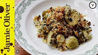 (PP) Contains product placement. Bye bye boring brussels sprouts - this is a side dish to celebrate! Brussels topped with a cheese...
