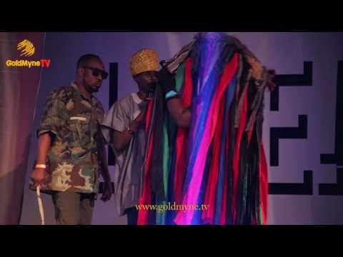"""KENNY BLAQ, OWENGEE AND LAFUP CRACK UP AUDIENCE DURING PERFORMANCE AT """"THE CIRCUS"""""""