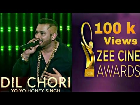 YOYO Honey Singh : Dil Chori Song || Zee Cine Awards || 2018 || Performed....
