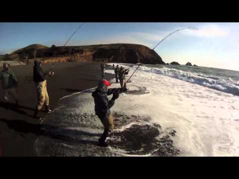 EXTREME SALTWATER SURF FISHING for STRIPED BASS…using light tackle