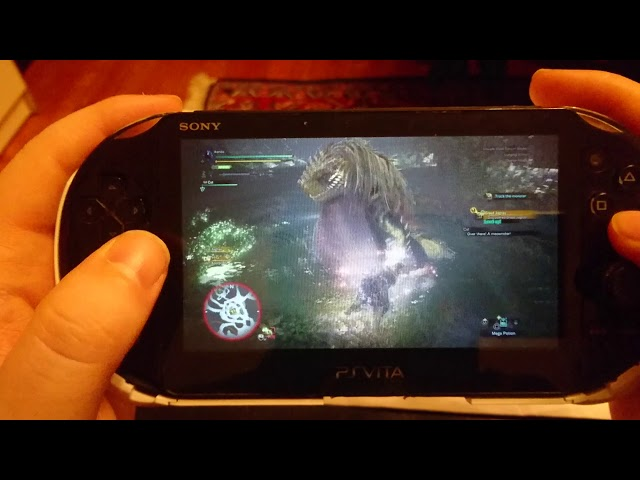 Monster Hunter World PS Vita Remote Play.