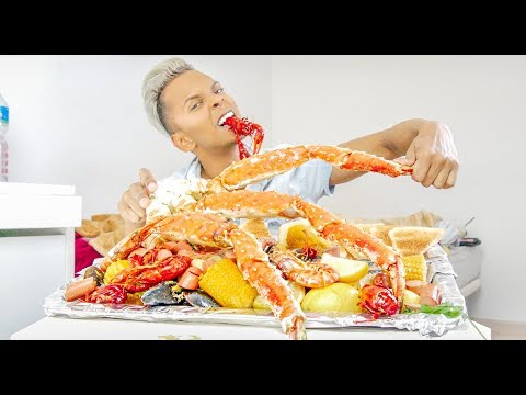SEAFOOD BOIL 5 🤩KING CRABS LOVERS!! TIGER SHRIMPS, CRAW FISH, CLAMS PERFECT SEAFOOD