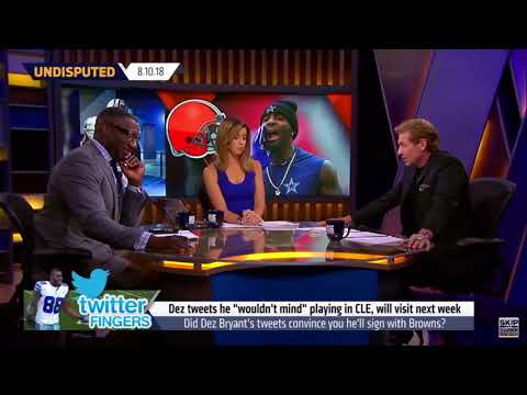 Skip and Shannon react to Dez Bryant latest Tweet about the Browns