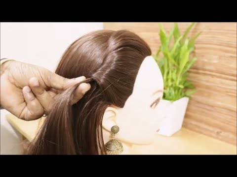 Curly hairstyles - Simple Side Buff Hairstyle for Beginners  Back to School Hairstyles  Hairstyles