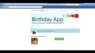 ASP.Net MVC Facebook Birthday App Tutorial
