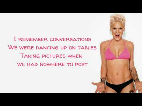 P!nk - Can We Pretend (Lyrics) Ft. Cash Cash