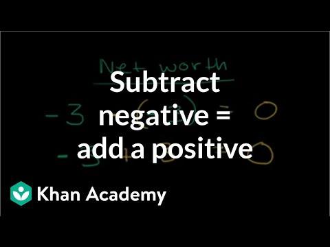 Subtracting A Negative Adding A Positive Video Khan Academy