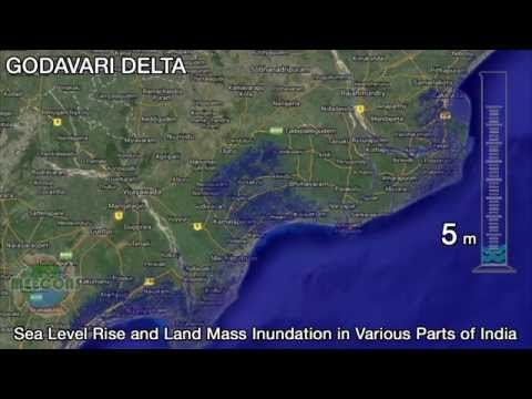 Increasing Sea Levels and Estimated Inundation in India видео