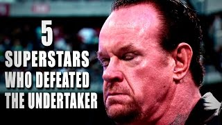 image of 5 Superstars who beat The Undertaker: 5 Things