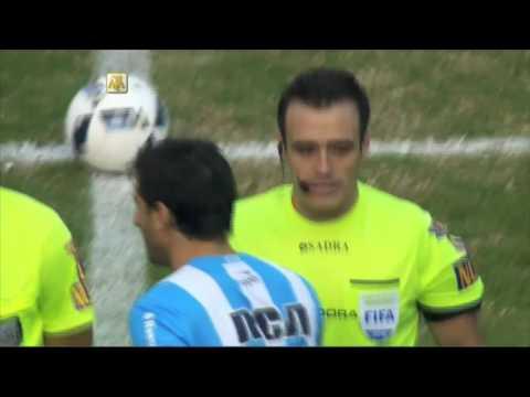 El recibimiento para Diego Milito. Racing - Temperley. Fecha 16. Primera División 2016
