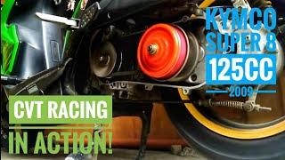 9. My 2009 KYMCO Super 8 125cc CVT Setup