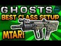 "COD Ghosts: BEST CLASS SETUP - ""MTAR-X"" (EPIC SMG) - Call of Duty: Ghost Gameplay"