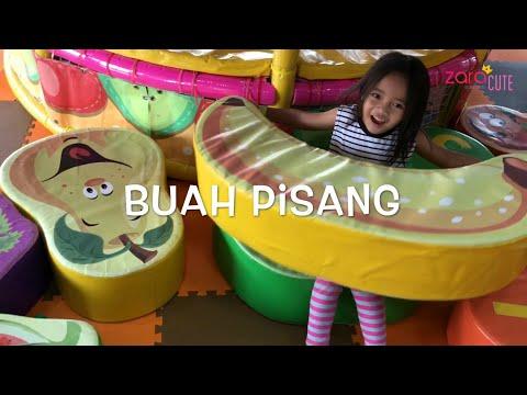 Home Schooling | Zara belajar Nama Nama Buah dan Warna di Playground | Kursi Buah Raksasa