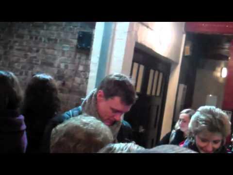 Edward Baker-Duly ( Tin Man ) David Ganly ( Lion)  Wizard of Oz -stage door 5/2/12