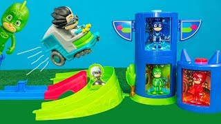 We love Disney PJ Masks  Rivals Race track! Please subscribe here:  http://www.youtube.com/user/TheEngineeringFamily?sub_confirmation=1Check out our new channel: https://www.youtube.com/channel/UCPC55dCdzIjNJd421LbK3uwIn this Disney PJ Masks YouTube video toy review we're unboxing the Disney PJ Masks Rival Racers track with Catboy, Night Ninja toys included! Watch as The Assistant and Mr. Engineer show you how crazy cool this new PJ Masks toy track is!! What's Romeo doing in this video? Is he going to cause trouble?Check out some of these other fun TheEngineeringFamily Treasure HuntsDISNEY SURPRISE TREASURE Secret Surprise Treasure with the Assistant a Disney World Video Surprise   https://youtu.be/a3c5pAJ-o-kPJ MASKS Disney Search For PJ Masks with Blaze and Paw Patrol Video  Adventure   https://youtu.be/4mV2sNE14PgAssistant Slip N Slide Bounce House Carnival Challenge Surprise Toys Video  https://youtu.be/HKE2lCvb6fMASSISTANT TREASURE HUNT Paw Patrol Look Out Hunt + toysZootopia + Lion Guard Toys Surprise Video  https://youtu.be/ECgPK35Gw3wOr these Playlists!  Funny Kids Videos     https://www.youtube.com/playlist?list=PLoLQ9unpi4OHXhaMeWT2y6P27pbuzKbckFeaturing the Assistant   https://www.youtube.com/playlist?list=PLoLQ9unpi4OGfgjxJsWnO878aLXo2TgXHAbout The Engineering FamilyWe are The Engineering Family, a family of educators working to show you how to make learning fun and engaging through toy unboxings, toy reviews, and original series designed to insight imaginative play within your family. With Mr. Engineer as an experienced engineer with a love of exploring new things, Mrs. Engineer an award winning teacher with a math and counseling focus, and their daughter The Assistant you can think of The Engineering channel as your imagination station. You can think of The Engineering Family channel as a Funbrain meets YouTube. This family is taking some of the coolest toys like Paw Patrol, Shimmer and Shine, Scooby Doo, PJ Masks, Doc Mcstuffins, and plenty of fun Real Life live action videos that help teach children valuable STEM content. As always... TheEngineeringFamily only features 100% suitable family fun entertainment.