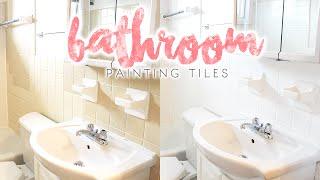 Bathroom Makeover | How to Paint Bathroom Tiles