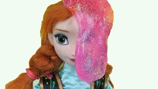 SLIME time! This parody dolls toys video shows ELSA and ANNA toddlers , Chelsea and Stacie having fun playing with colorful, ...