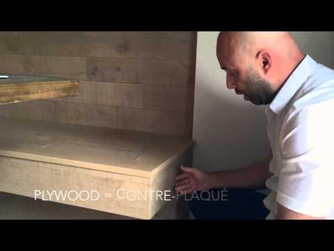 Banquette de bois franc Preverco avec Daniel Corbin