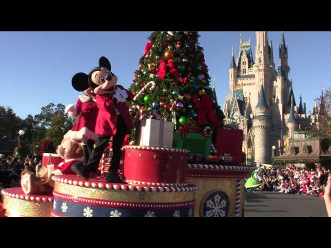 Mickey's Once Upon a Christmastime Parade daytime at the Magic Kingdom