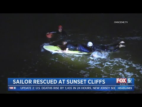 Man Rescued After Falling Into Ocean At Sunset Cliffs