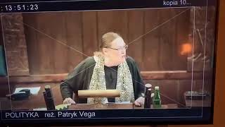 """Zapowiadany film """"Polityka"""", Patryka Vegi nie spodobał się posłance Pawłowicz."""