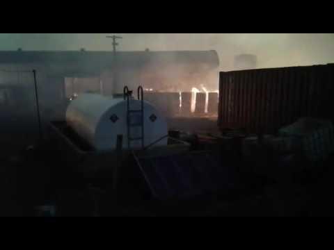 fogo destruindo Casemat em Porto Esperidião