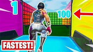 I found the FASTEST 100 Level Deathrun ever... (Fortnite Creative)