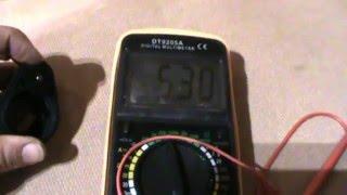 8. Verificacion acelerador (Potenciómetro) desmontado ZERO DS 2010