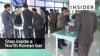 This is what a bar in North Korea looks like.