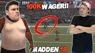 Today my second ever wager match is going to be a huge one! We're wagering 100,000  MUT coins for Madden 18 before the game even comes out! (Madden 17 Gameplay)SHOW YOUR SUPPORT TO ME IN OUR 2X OR NOTHING!!:  https://youtu.be/1Gf13QnrpMcLEAVE A LIKE FOR A CHANCE TO WIN A FREE COPY OF MADDEN 18!!Want to see more amazing Madden 17 videos??SUBSCRIBE RIGHT HERE: (It helps out a lot!)https://www.youtube.com/user/RandomGaminCrewThank you all so much for all stopping by to check out my channel! For anyone who is new, I really enjoy playing Madden and NBA 2k17. As I'm sure that you will find out, I just like to have fun and mess around with different games. Above all, and most importantly: without my Lord and Savior Jesus Christ this channel would be nothing. Thanks again everyone - your support is incredible!Credits:➡Twitter: https://twitter.com/RealYoBoyPIZZA➡️ Snapchat: Tbone-225➡️ Business Email: therandomgamingcrew@gmail.com➡ Music- Chuki: https://www.youtube.com/user/CHUKImusicAs always don't forget to keep God #1❗️Have an awesome day everyone ❕-YoBoy