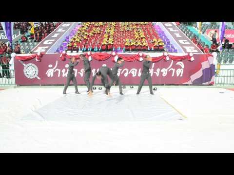 สเต็ปเทพ! ตร.โชว์เต้นบีบอยงานแข่งกีฬากองทัพไทย