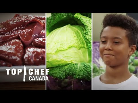 Getting Kids To Love Liver, Cabbage & Anchovies Challenge! | Top Chef Canada