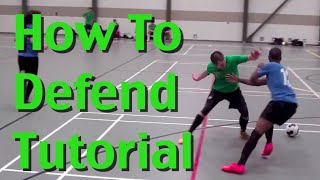 How To Defend In Soccer - Soccer Defending Skills, Tactics, and Techniques - Download a FREE soccer training course at ...