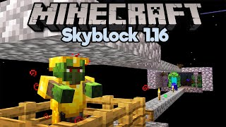 Curing Our First Zombie Villager! • Minecraft 1.16 Skyblock (Tutorial Let's Play) [Part 8]