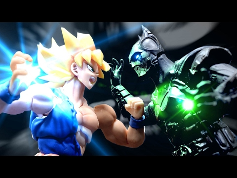 dragon ball stop motion - goku vs batman