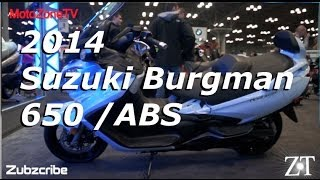 7. 2014 Suzuki Burgman 650 Scooter - NYC Moto Expo
