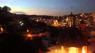 Timelapse Guanajuato (Mexico) nightfall