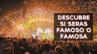 Te has preguntado si llegaras a ser famoso o famosa? Descubre si seras famoso o famosa con este divertido test! ↠↠ ¡No te olvides de suscribirte para no ...