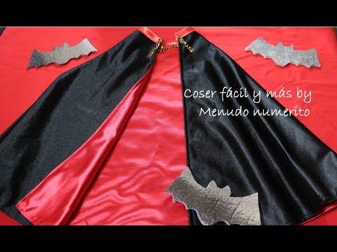 como hacer una capa - Confeccionamos una capa de vampiro con forro rojo para lucir como disfraz de Halloween o Carnaval. Como la de Drácula pero mucho más fácil y rápida.