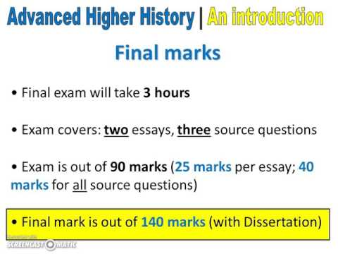advanced higher history essays
