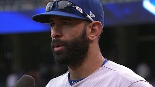 Bautista on tying Carter: Good feeling climbing up to those records