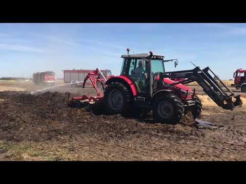 Wideo1: Pożar zboża na pniu w Bukówcu Górnym