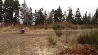 10. yamaha ttr90e kids dirt bike on some open trails