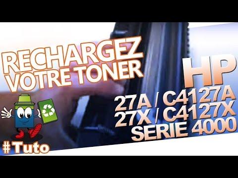 27A / C4127A - HP 27X / C4127X Laserjet HP série 4000 : Bien Recharger Le Toner