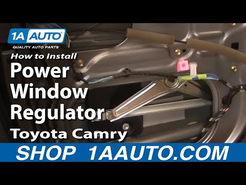 How To Install Replace Power Window Regulator Toyota Camry 02-06 1AAuto.com