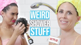 12 Crazy Shower Accessories You Didn't Know You Needed !  (Beauty Break) by Clevver Style